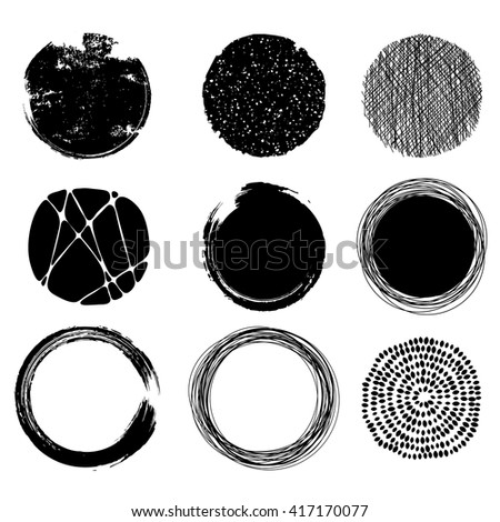 set of graphic circles, eps10 vector - stock vector