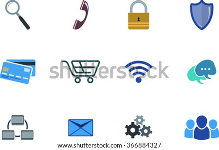 Set of graphic web icon. EPS 10 - stock vector