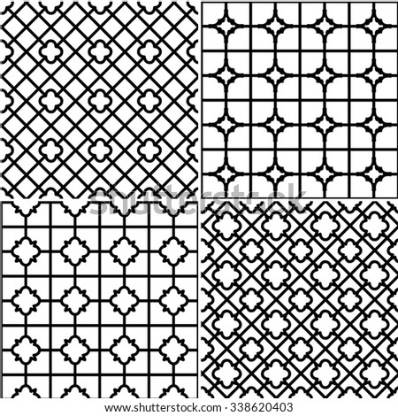 Set of grids - stock vector
