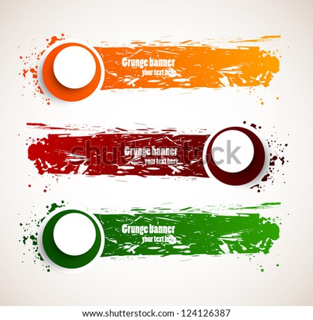 Set of grunge banners - stock vector