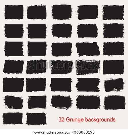 Set of grunge banners.Grunge backgrounds.Abstract vector template. - stock vector