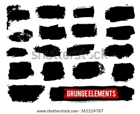 Set of grunge banners. Grunge elements. Vector illustration. - stock vector