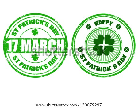 Set of grunge rubber St.Patrick's day stamps,vector illustration - stock vector