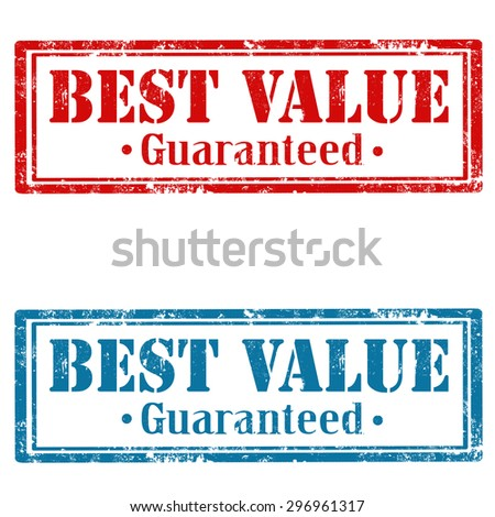 Set of grunge rubber stamps with text Best Value,vector illustration - stock vector