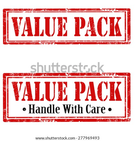 Set of grunge rubber stamps with text Value Pack,vector illustration - stock vector