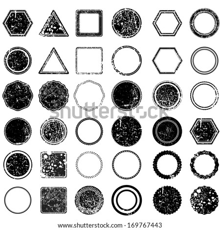 Set of grunge stamp  - stock vector