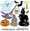 Set of Halloween images - vector illustration. - stock vector
