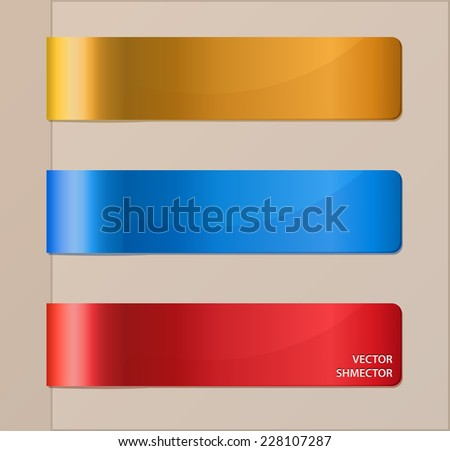 Set of horizontal banners or bookmarks. Vector illustration.  - stock vector