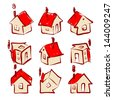 Set of house icons for your design - stock vector