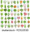 Set of icons of different trees - stock vector