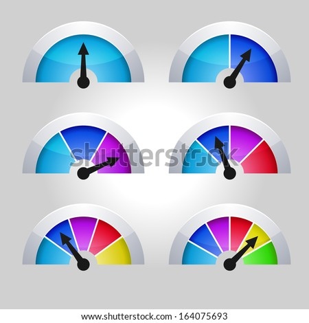 Set of indicators diagram - stock vector