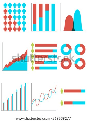 Set of info graph - stock vector