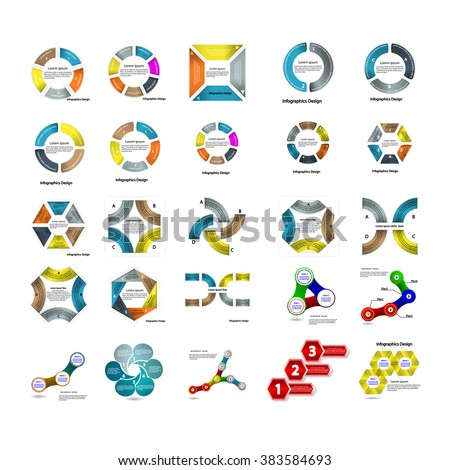 Set of infographic business presentation template.Powerpoint template design backgrounds.Infographic Element.Business infographic.Layout design.Vector illustration  - stock vector