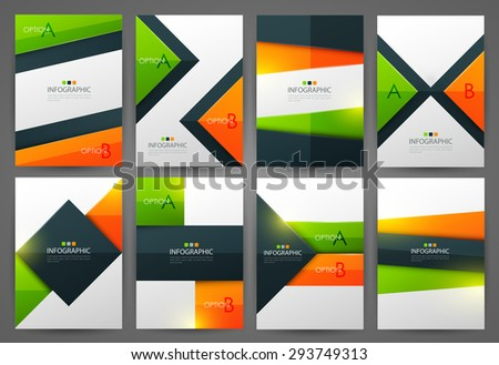 Set of infographic design templates. Brochure design. Bright modern backgrounds. Design elements. - stock vector