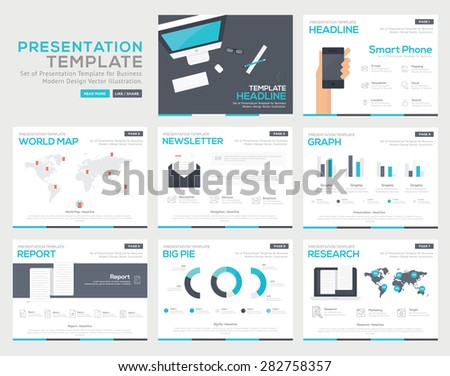 Set of infographic Presentation Template , Infographic Element , Business flyer, corporate report, presentation, Marketing  , Layout design , Modern flat business Style , Vector design illustration - stock vector