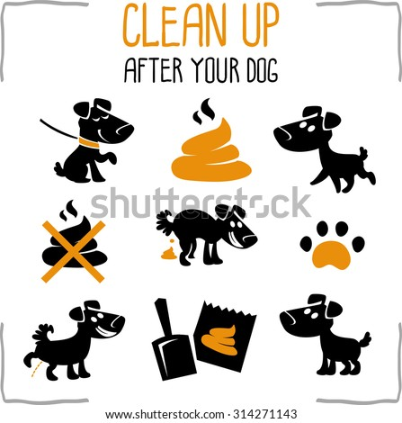 Set of information dog icons. isolated on white background - stock vector
