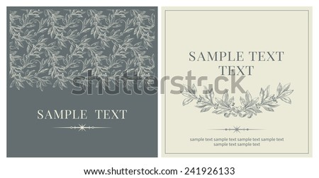 Set of invitations . Vector banners with inscriptions  at retro style  - stock vector