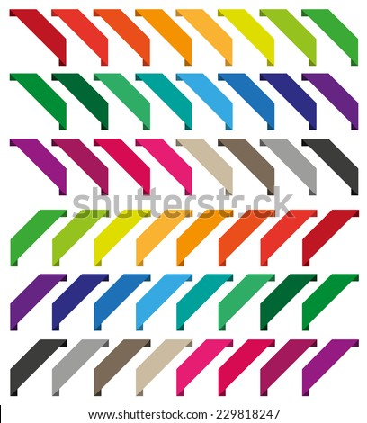 Set of isolated colorful ribbons. Collection for web shop - stock vector