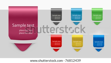 Set of labels badges and stickers. Vector illustration. - stock vector
