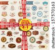 Set of labels, banners, stickers, badges and elements for food and drink. Special offer 4 in 1 package. - stock vector