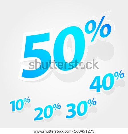 Set of labels for special offers and sales discount. Eps 10 vector illustration. Used transparency layers of shadows - stock vector