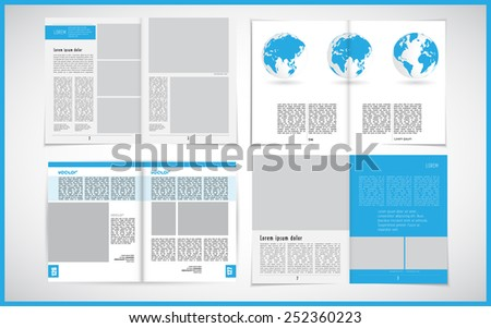 Set of layout magazine. Editable vector - stock vector