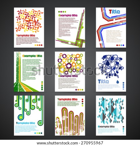 Set of letterhead templates - stock vector