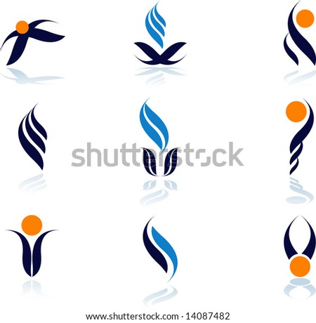 set of logos- nature - stock vector