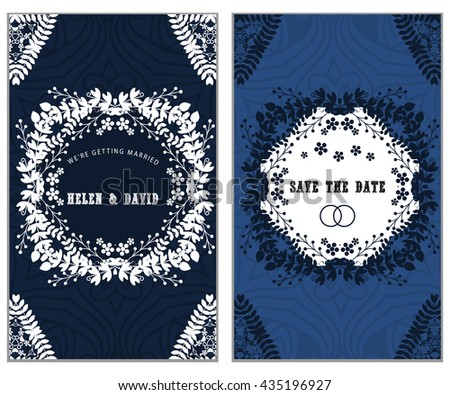 Set of Luxury artistic pages set with logo brochure template. Vintage art identity, lace, card, magazine.  Decorative retro greeting card or invitation design - stock vector