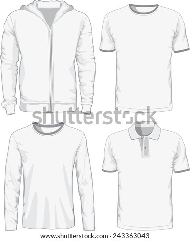 Set of male shirts. Vector illustration Eps 8. - stock vector