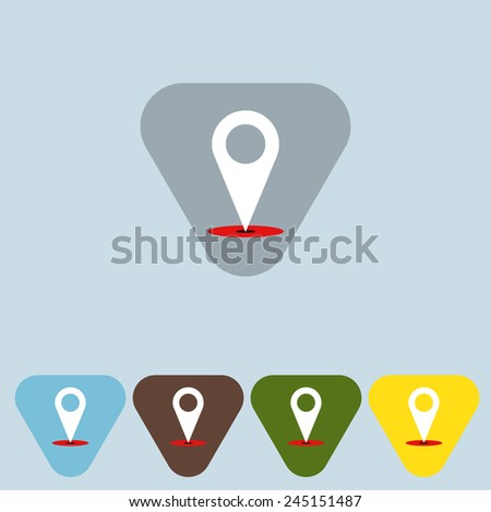 Set of map pointers - Vector - stock vector