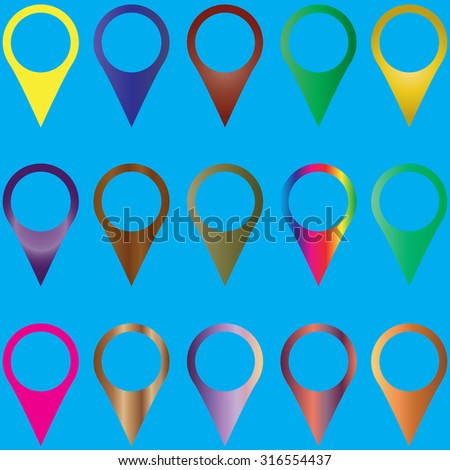 Set of map pointers. vector illustration. business elements - stock vector