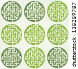 Set of Maze For Kids With Answer - stock vector