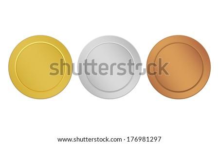 set of medals - stock vector