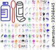 Set of medical sketches. Part 7. Isolated groups and layers. Global colors. - stock vector