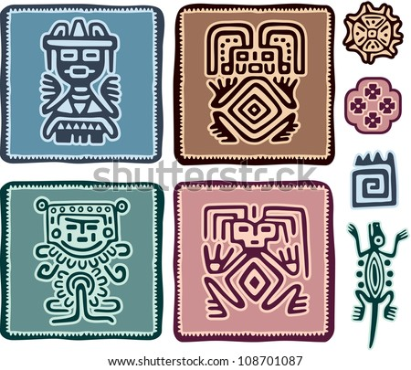 Set of Mexican Design Elements - stock vector
