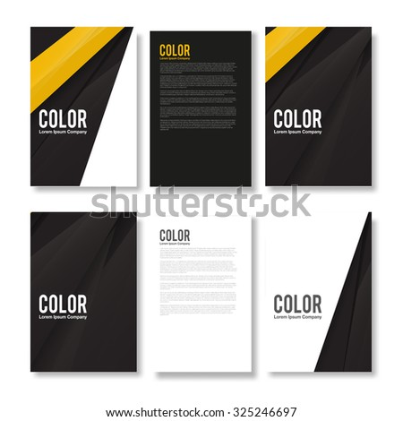 Set of Minimal Modern Abstract Flyers - EPS10 Brochure Design Templates - stock vector