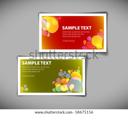 Set of modern colorful business card templates - stock vector