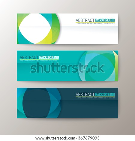 Set of modern design banners template with abstract circle shape pattern background - stock vector