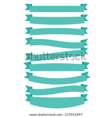 Set of multicolored ribbons and banners - stock vector