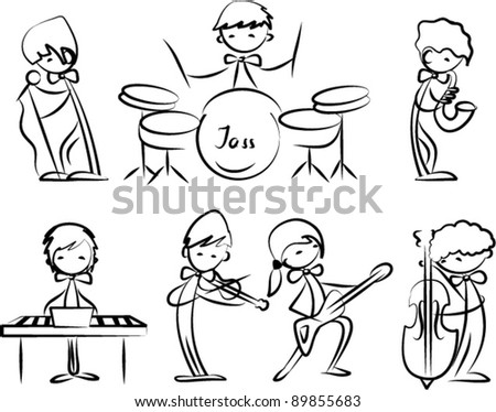 set of Music icons - stock vector
