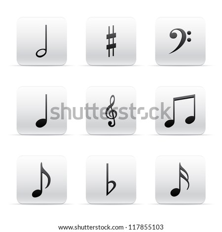 Set of Music Notes - stock vector