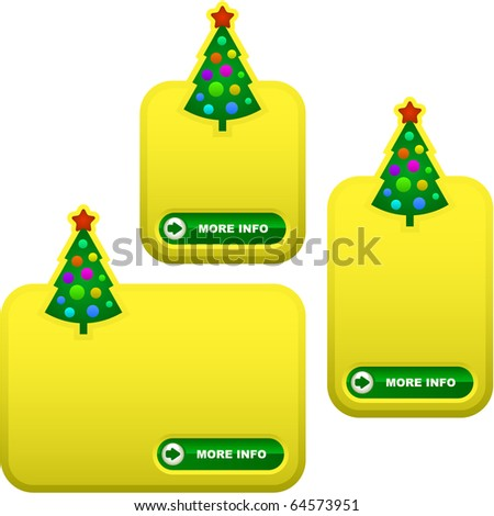 Set of New Year's banners for sale. - stock vector