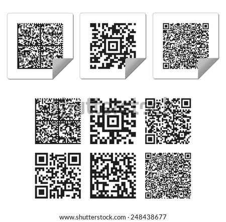 set of nine barcode - stock vector