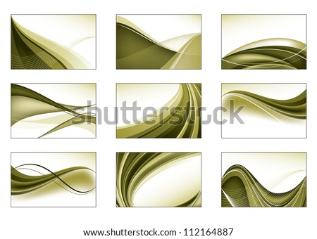 Set of Nine Vector Backgrounds. Abstract Design. - stock vector