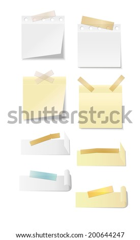 Set of office supplies, vector illustration in EPS10. - stock vector