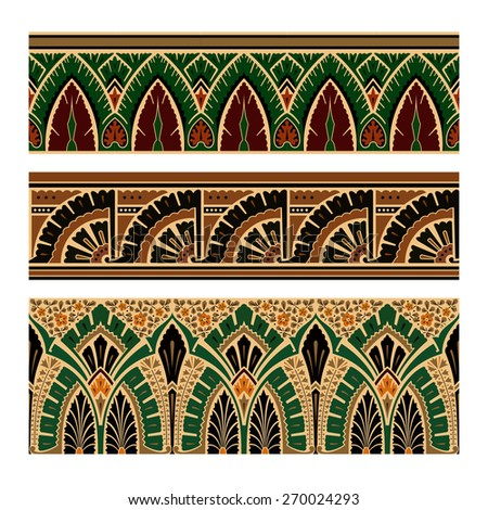 Set of Oriental Pattern Elements. Vector illustration. - stock vector