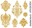 Set of ornate vector ornaments. Perfect for invitations or announcements. - stock vector