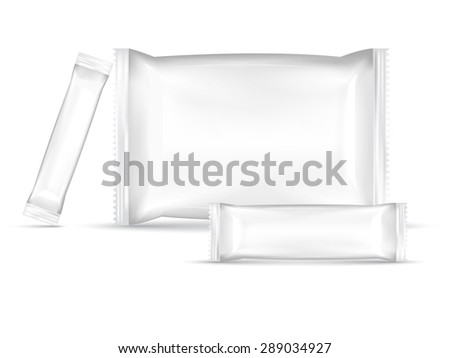 set of packaging vector illustrator - stock vector