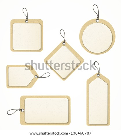 set of paper labels eps10 - stock vector